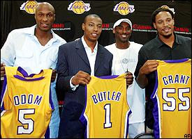 Caron Butler is the Lakers' No. 2 scorer.