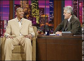"Butler shares his personal story on ""The Tonight Show"" with Jay Leno."